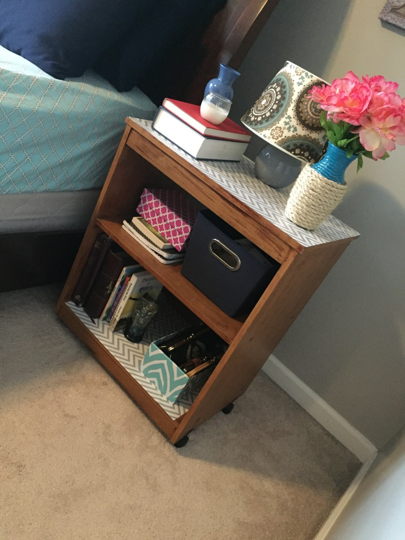 How I Transformed a Storage Shelving Unit to a Nightstand.