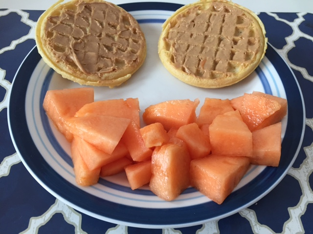 Who says you can't spread peanut butter on waffles?