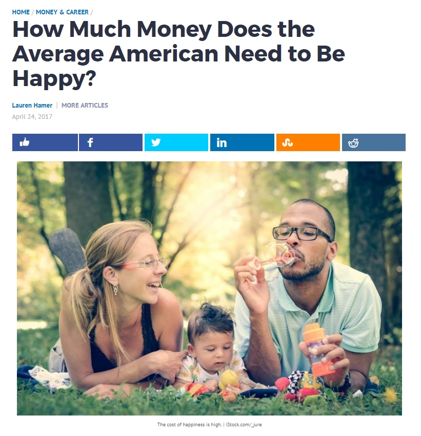 How Much Money Does the Average American Need to Be Happy?