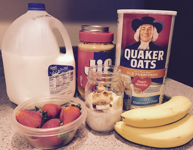 Overnight oatmeal. Easy breakfast ideas