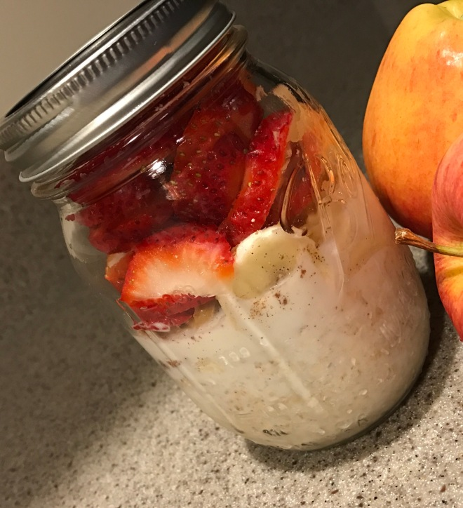 Mason Jar overnight oats.