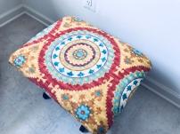 DIY repurposed nursery ottoman