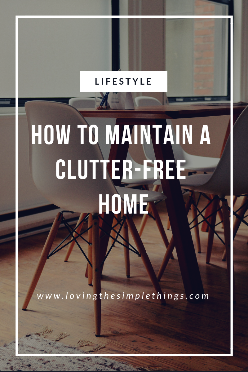 How to maintain a minimalist home