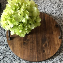 DIY Farmhouse Lazy Susan Tray