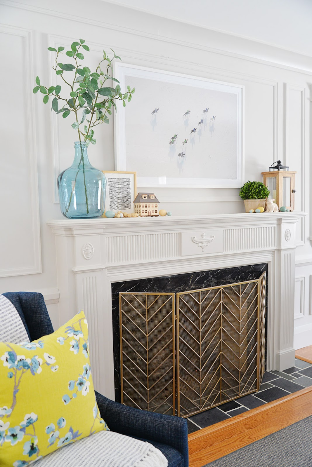 Image result for how to decorate your mantel for spring