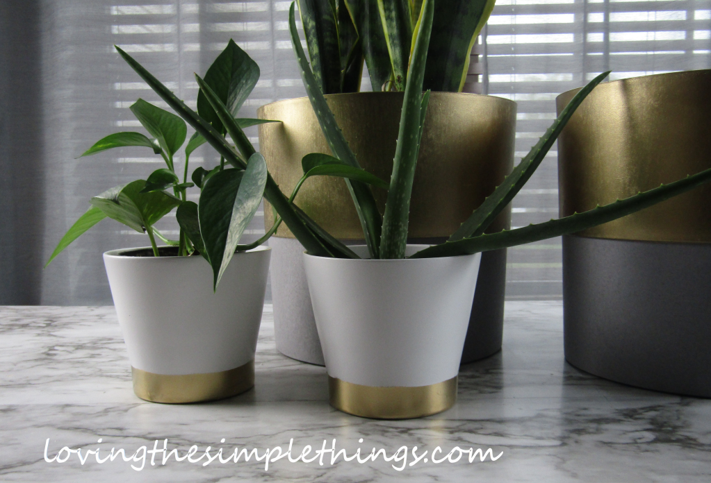 How to update your IKEA planters. How to spray paint your plain IKEA planter.