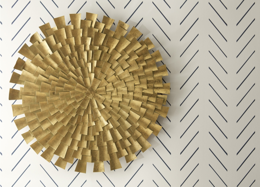 DIY glam gold wall decor. DIY gold sunburst wall decor, DIY sunburst mirror, DIY wood shim sunburst wall decor.