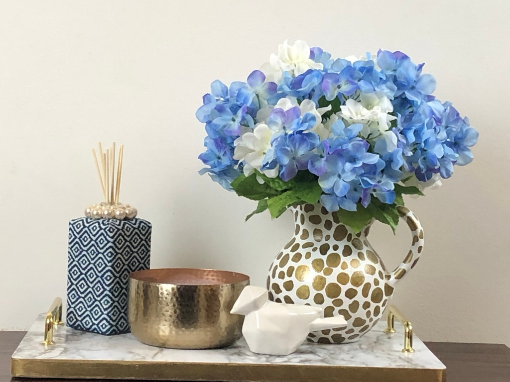 DIY vase decor makeover. How to update a thrift store vase or pitcher.