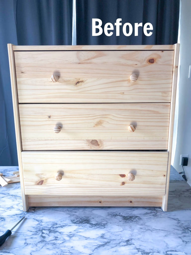 DIY IKEA RAST NIGHTSTAND TRANSFORMATION. How to transform IKEA Rast nightstands. DIY Nightstands.