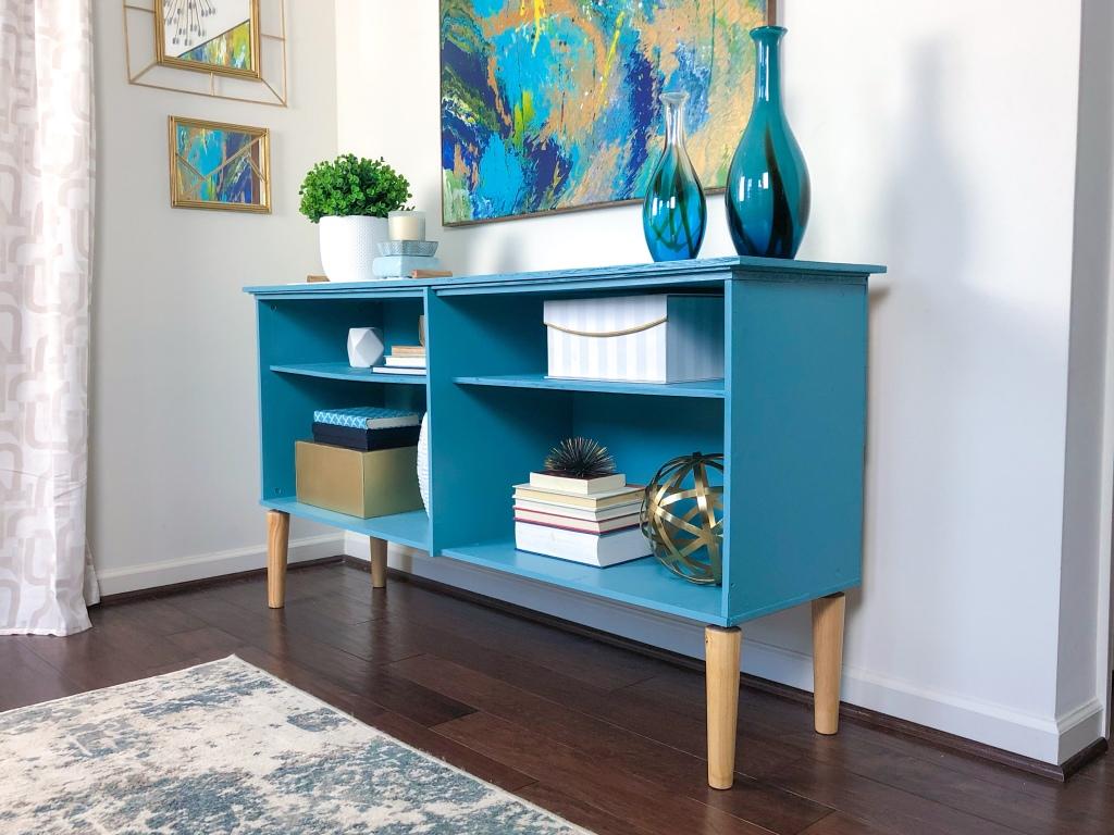 DIY storage cabinet transformation. IKEA furniture transformation. DIY Console doors. DIY Cabinet Doors. DIY Woven doors. DIY Burlap doors. DIY painted furniture. How to paint furniture.